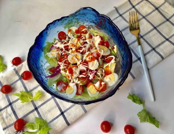 鹌鹑蛋果蔬沙拉怎样做