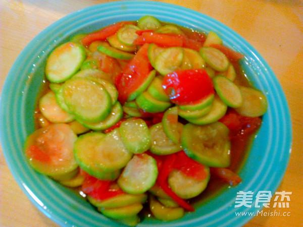 西红柿炒小瓜怎么炖