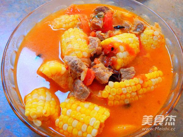 西红柿玉米牛肉汤怎样炒