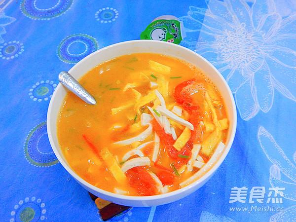 番茄蛋皮豆腐丝汤的制作大全
