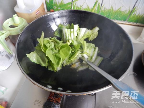 炒小白菜的步骤