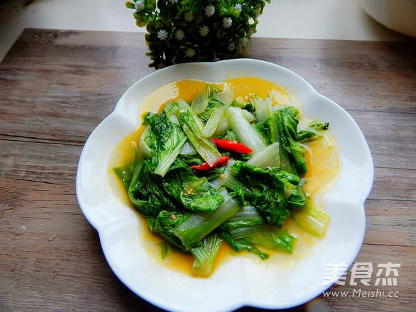 炒小白菜成品图