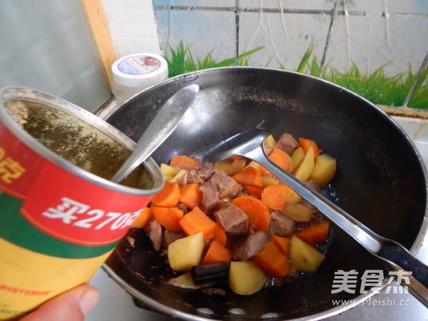 胡萝卜土豆烧牛肉怎样炒