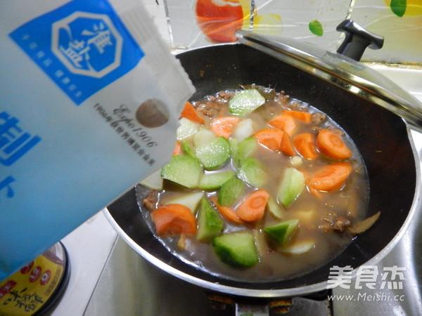 青红萝卜烧羊肉的制作