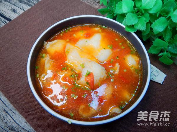 番茄鱼片汤的制作