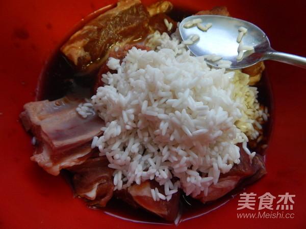 荷叶糯米蒸排骨怎么炒