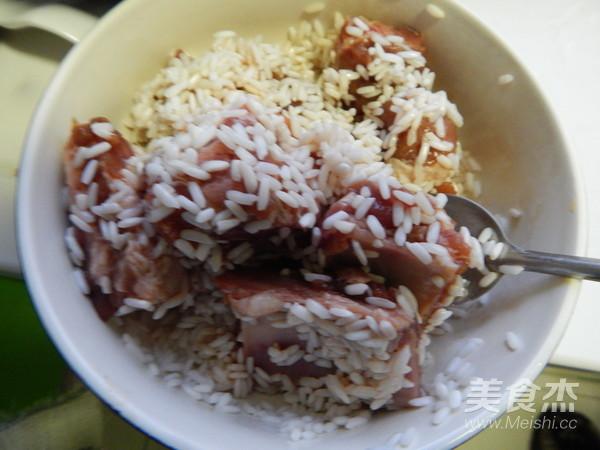 荷叶糯米蒸排骨怎么煮
