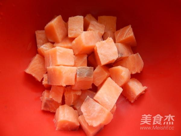 香酥三文鱼块的做法大全
