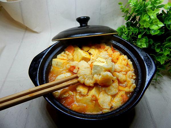 番茄豆腐鱼片汤的制作方法