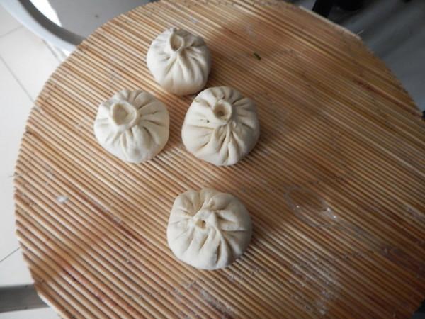 菠菜粉丝包子的制作