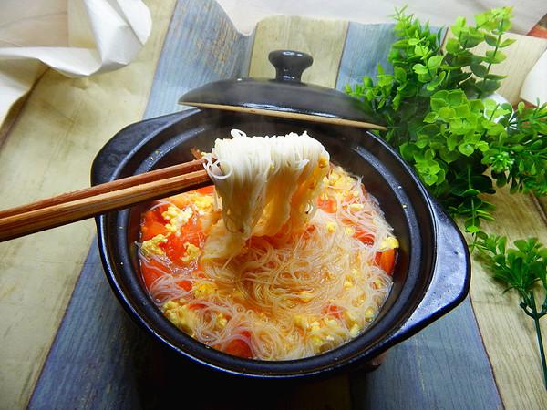 番茄鸡蛋米线汤怎样煸