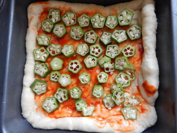 秋葵鸡肉披萨怎么炒