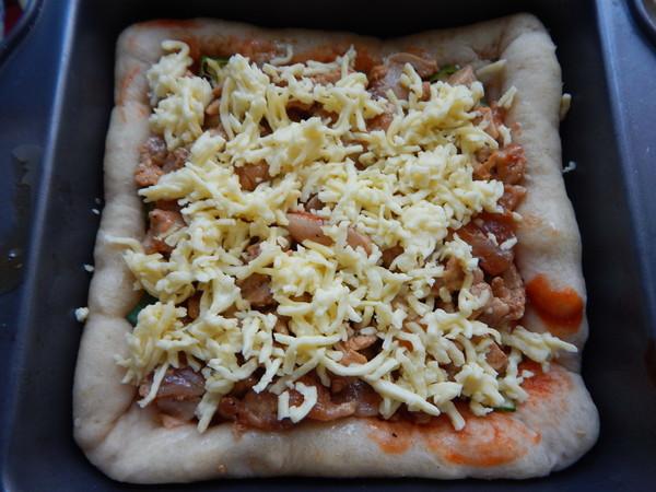 秋葵鸡肉披萨怎么煸