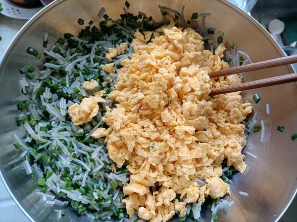 韭菜粉丝包的步骤