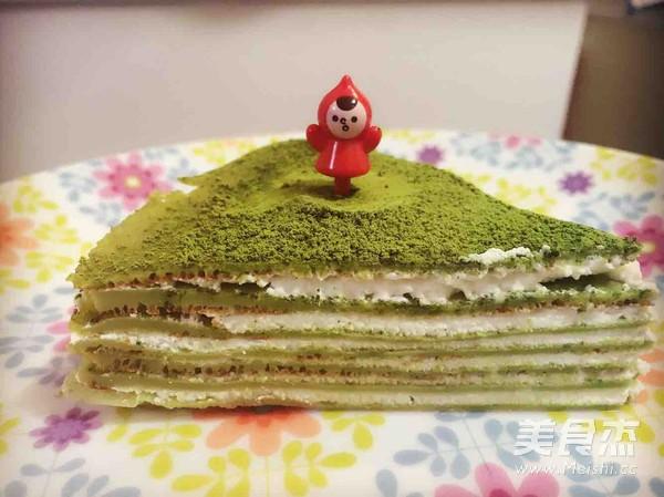 抹茶千层蛋糕成品图