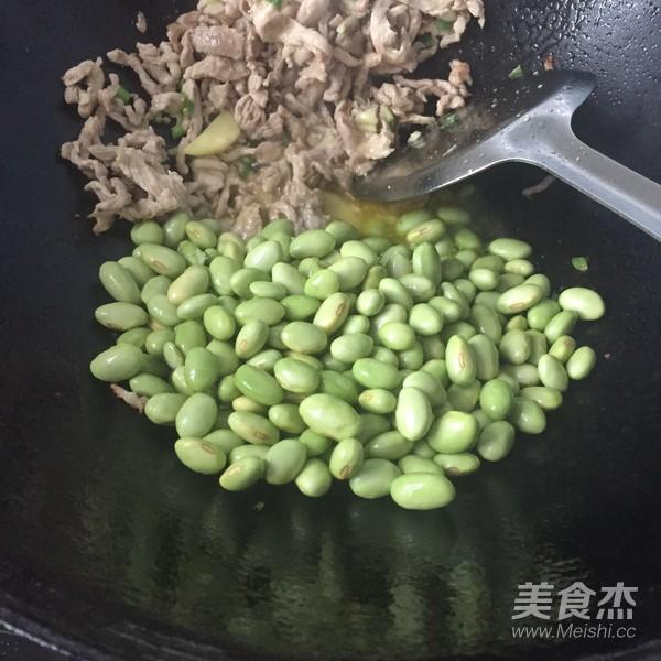 香干毛豆炒肉丝的家常做法