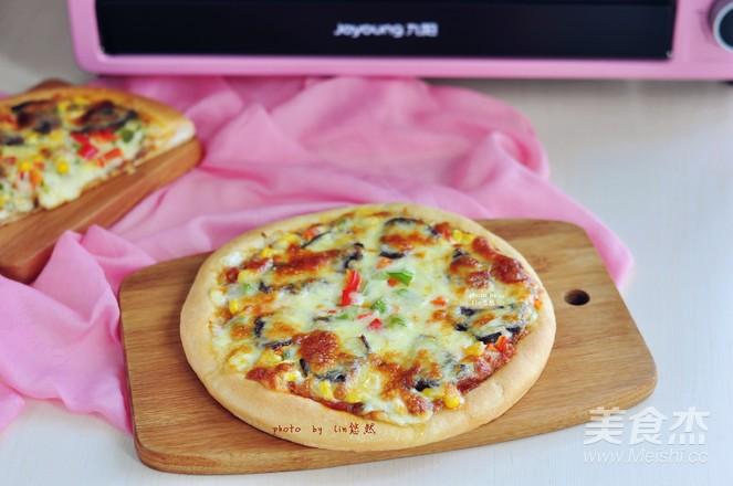 牛肉玉米披萨成品图