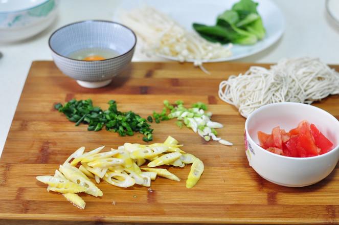 番茄鲜笋汤面的做法图解