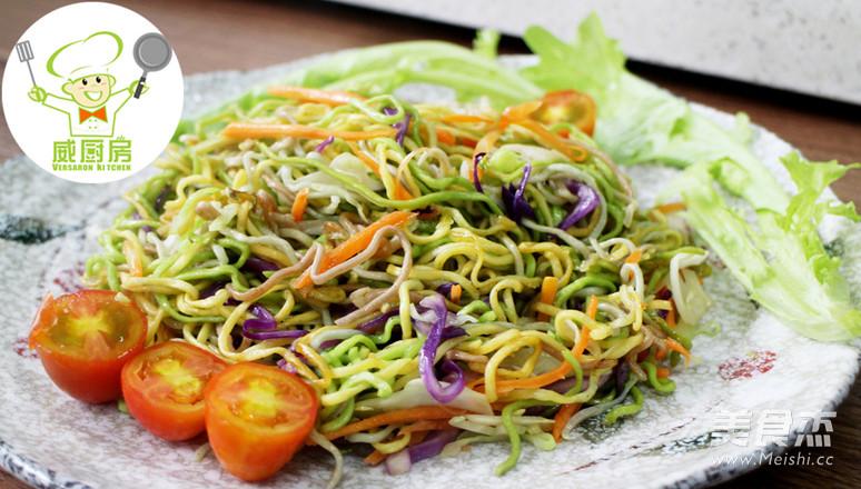 三丝素炒面,一碗用蔬菜汁做成的营养面--威厨艺怎么炖
