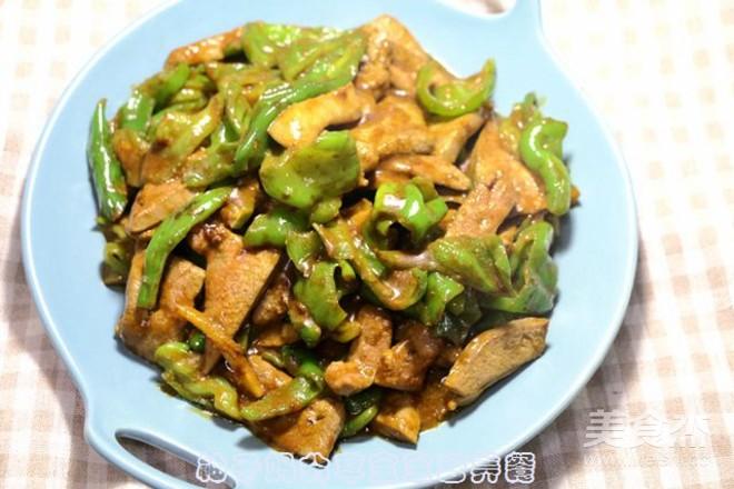 青椒炒猪肝怎么炒