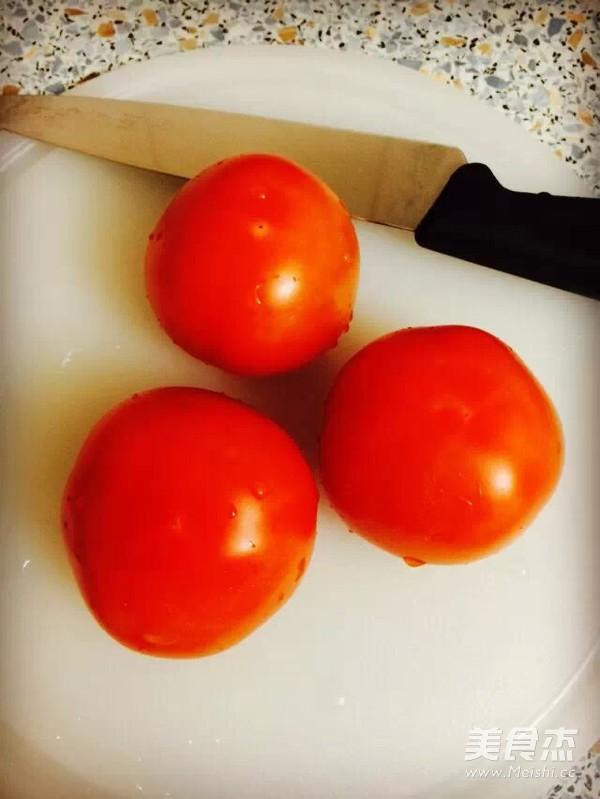 荤汤西红柿鸡蛋面的做法图解
