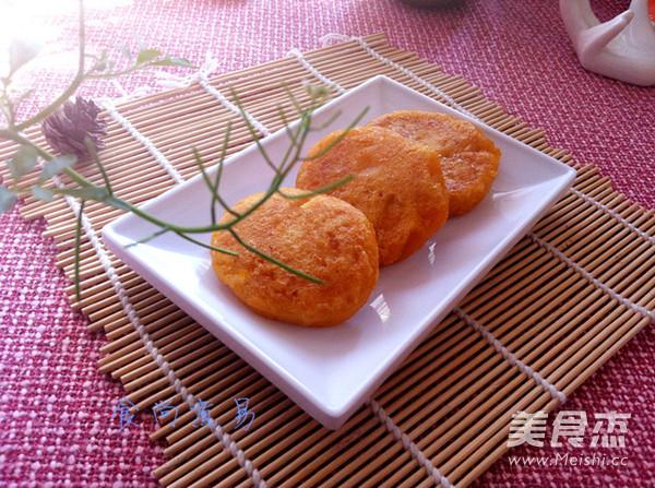 简单美味红薯饼成品图