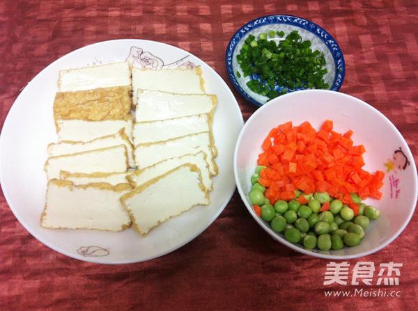 微波炉豌豆烩豆腐的做法图解