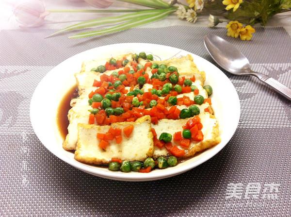 微波炉豌豆烩豆腐成品图