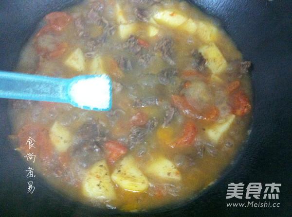番茄土豆炖牛腩怎样做