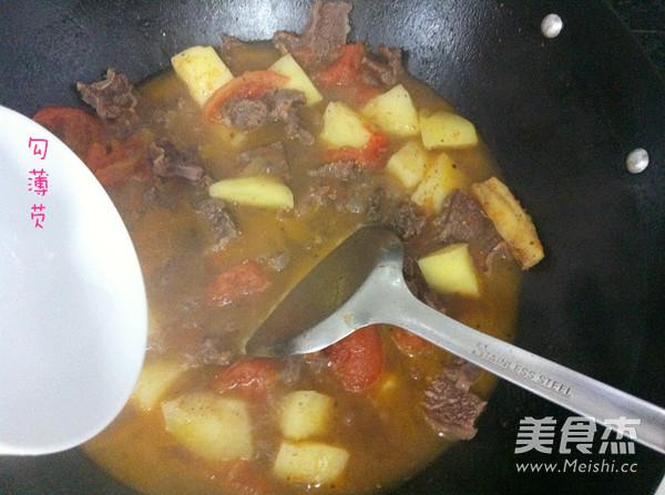 番茄土豆炖牛腩怎样炒