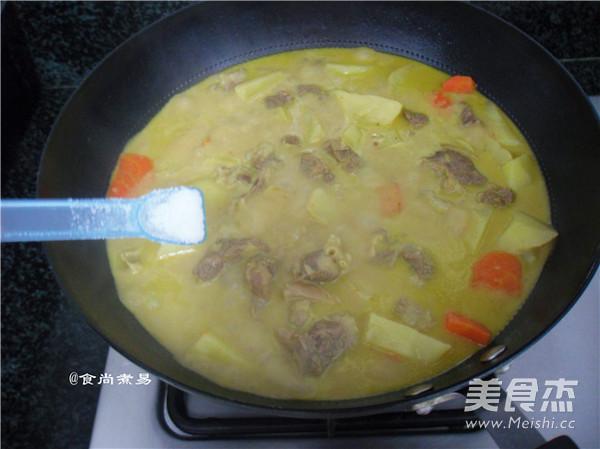 咖喱椰香薯仔牛腩的制作