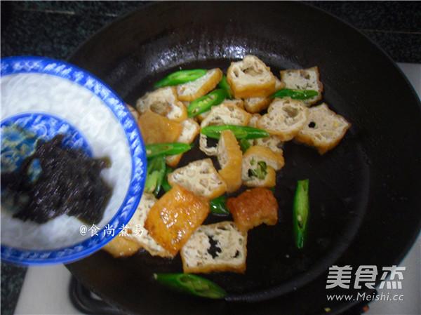 橄榄菜豆腐泡怎么炒