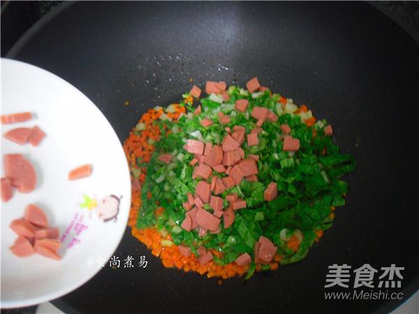 香菇酱鸡蛋炒饭的家常做法
