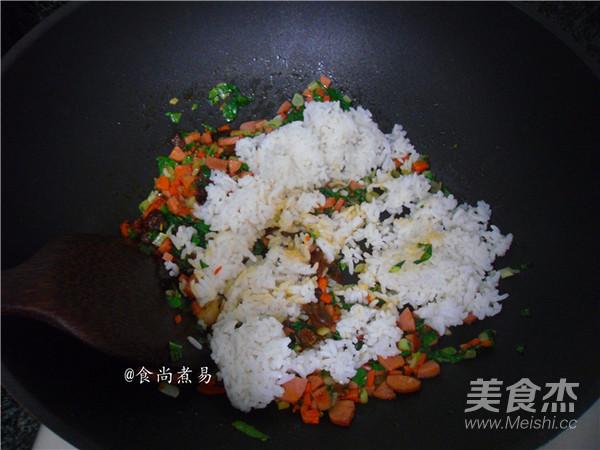 香菇酱鸡蛋炒饭怎么吃