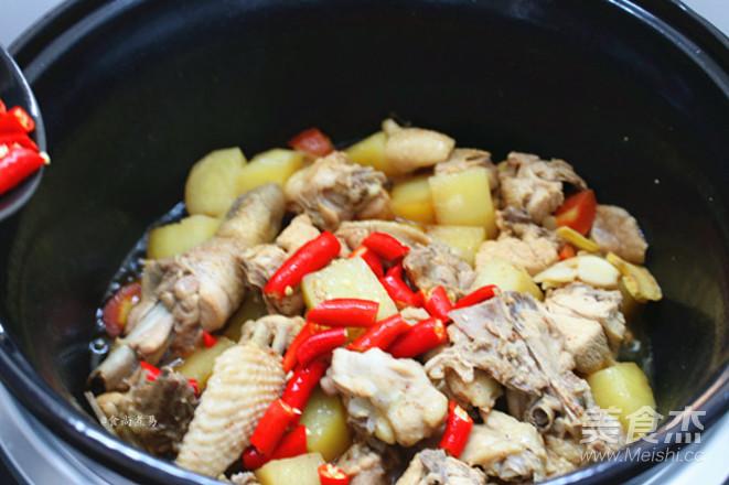 土豆烧鸡的步骤