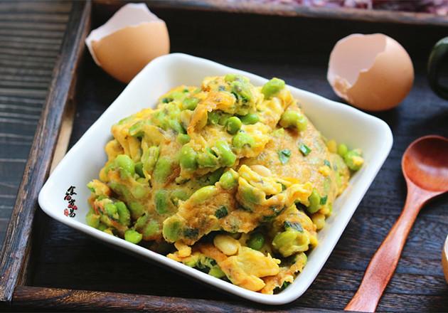 毛豆煎鸡蛋怎么煮