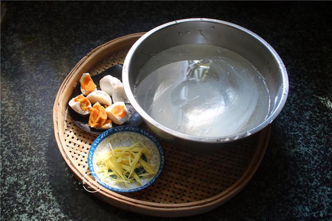咸蛋芥菜煮粉丝的做法图解