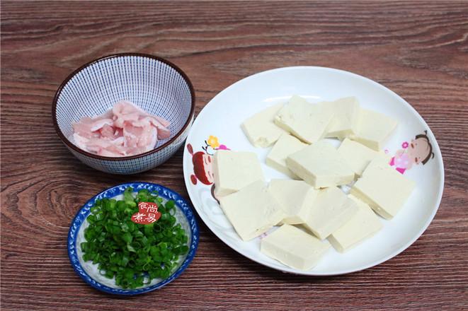豆腐蒸五花肉的家常做法