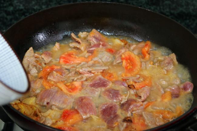 番茄黑椒炒牛肉怎么吃
