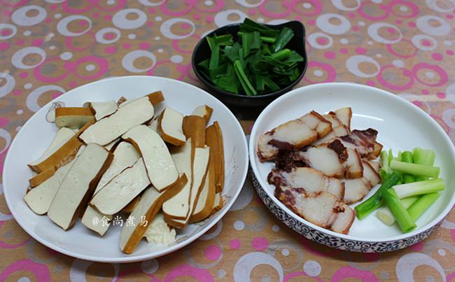 豆腐干蒜苗炒腊肉的做法大全