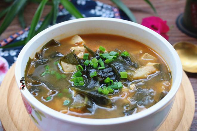 豆腐海草汤成品图