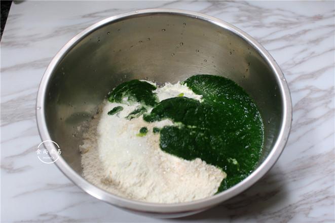 菠菜糖馅包的家常做法
