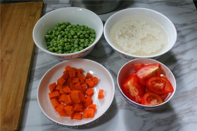 咸鹅豌豆番茄焖饭的做法图解