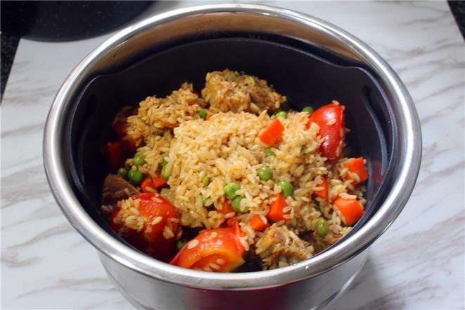 咸鹅豌豆番茄焖饭怎么炖
