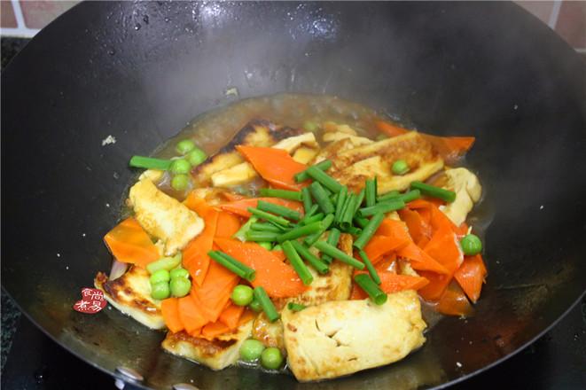 胡萝卜煎焖豆腐怎么做