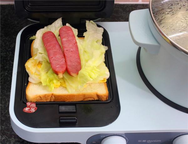 馄饨面条鸡蛋三明治怎么做