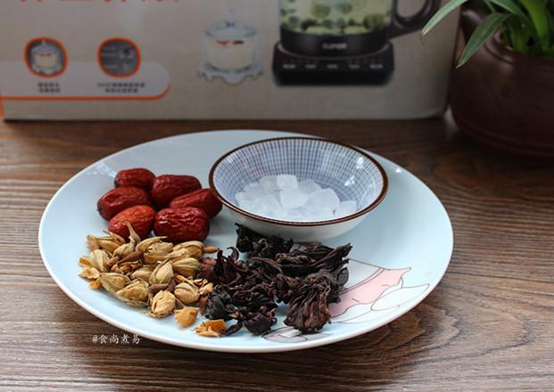 玫瑰洛神花红枣茶的做法大全