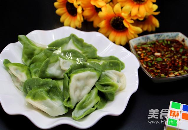 翡翠饺子的制作