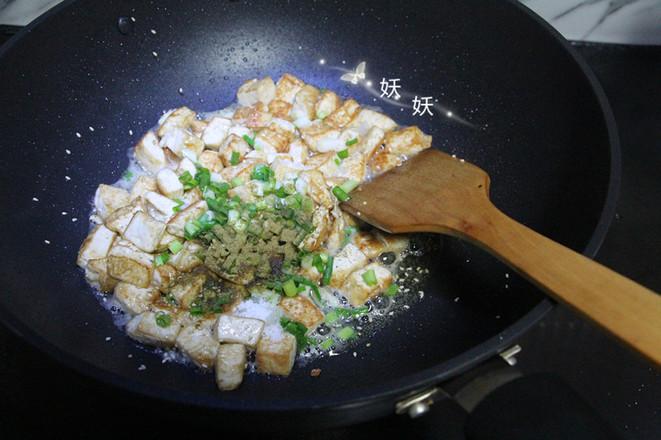 孜然小葱煎豆腐怎么炖