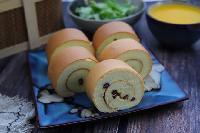 蜜豆蛋糕卷的制作